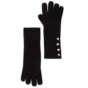 MICHAEL Michael Kors Knit Long Gloves NWT OS Black